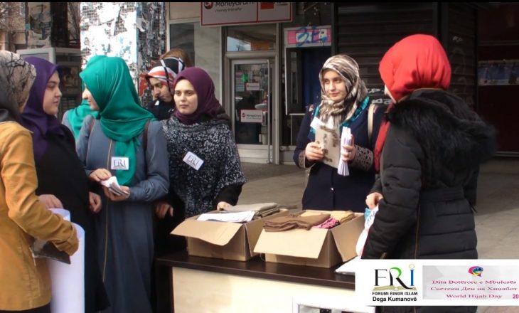 Femrat shqiptare në Kumanovë shpërndajnë shamia