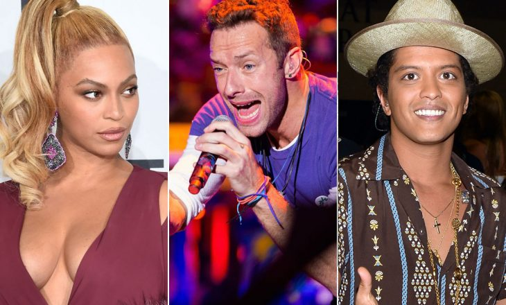 """Bruno Mars, Beyonce dhe Coldplay bashkë këtë vit në përformancën e """"Super Bolw"""""""