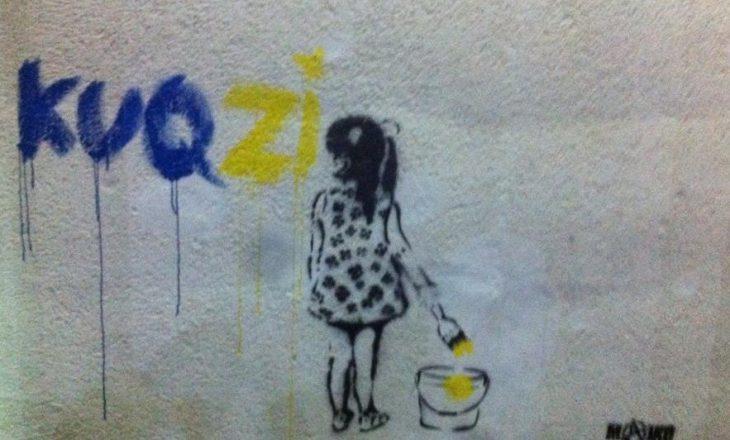 Grafiti i ri në Pejë: Kuqezi me ngjyra të flamurit të Kosovës