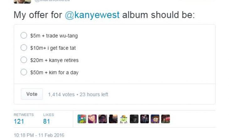 Martin Shkreli provokon Kanye West dhe Kim Kardashian