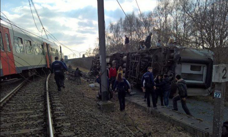 Së paku një i vdekur nga një aksident treni në Belgjikë