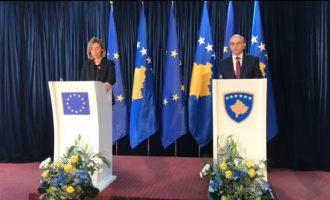 Mogherini: Nuk kam nevojë të bërtas, demarkacionin ose s'ka liberalizim vizash