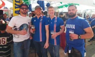 """Dardanët"" mirëpresin tifozët e Islandës [video]"