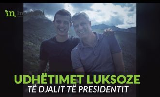 Videoja e udhëtimeve luksoze të djalit të presidentit