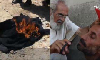 Gratë djegin shamitë dhe burrat rruajnë mjekrën për të festuar largimin e ISIS
