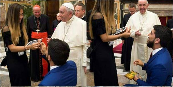 I propozon të fejuarës para Papës