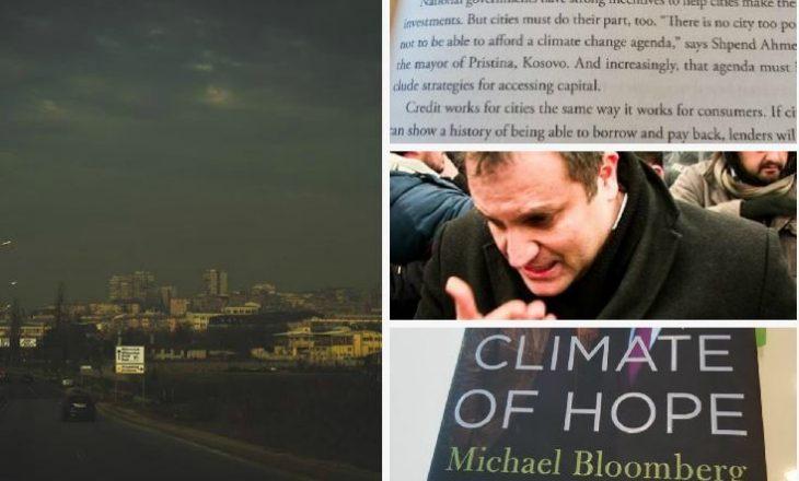 """Mburrja e kryetarit të qytetit të ndotur me një citim për """"ndryshime klimatike"""""""