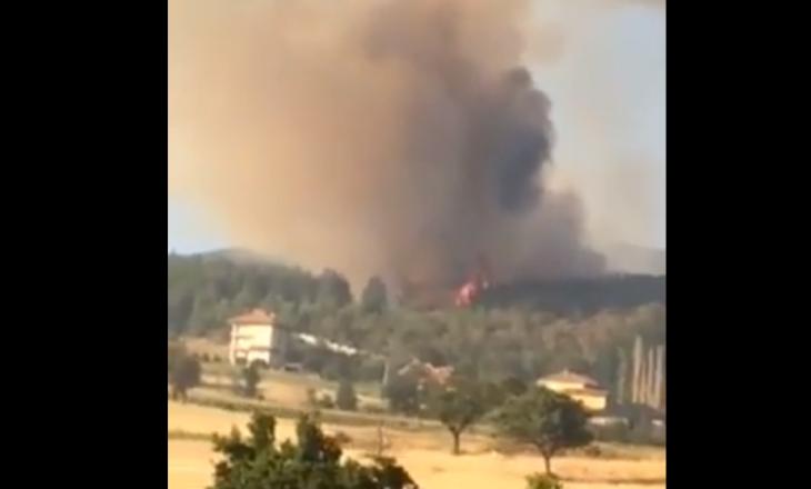 Pas maleve të Drenasit edhe malet e një qyteti tjetër kaplohen nga zjarri