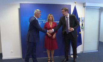 Mogherini thotë se ia ka vënë qëllim vetës që t'i pajtojë Kosovën me Serbinë