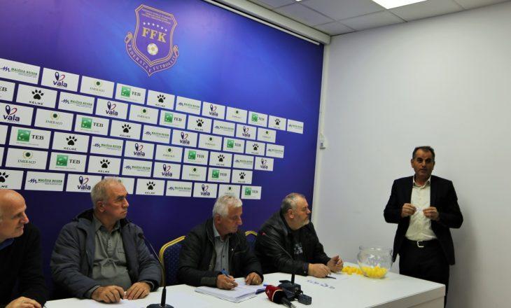 Tërhiqet shorti për rrethin e tretë të Kupës së Kosovës, spikasin këto përballje