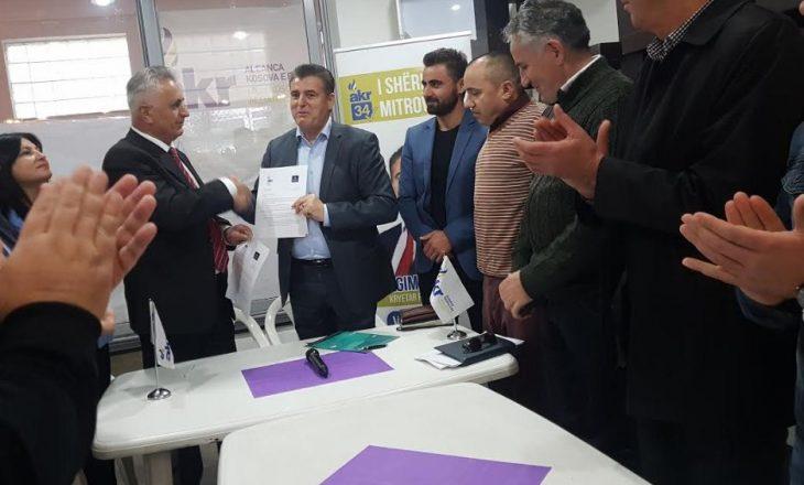 AKR në Mitrovicë zyrtarizon koalicionin me këtë parti