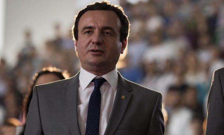 Kurti: Lobimi i Thaçit e Pacollit, vetëm i bën keq Kosovës