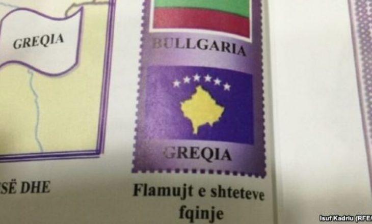 Gabimet në libra, flamuri i Kosovës me emër të Greqisë