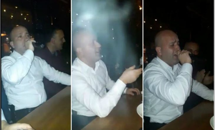 Drejtori i Policisë në Prishtinë tregon talentin në këndim por injoron shkeljen e ligjit