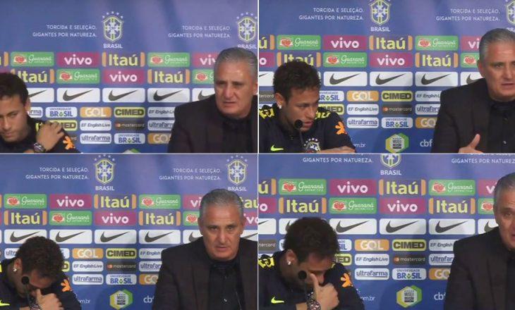 Neymar shpertheu në lot pas deklaratës së trajnerit të Brazilit