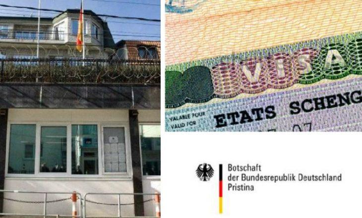 Ambasada gjermane ndryshon procedurat për kosovarët që duan viza pune