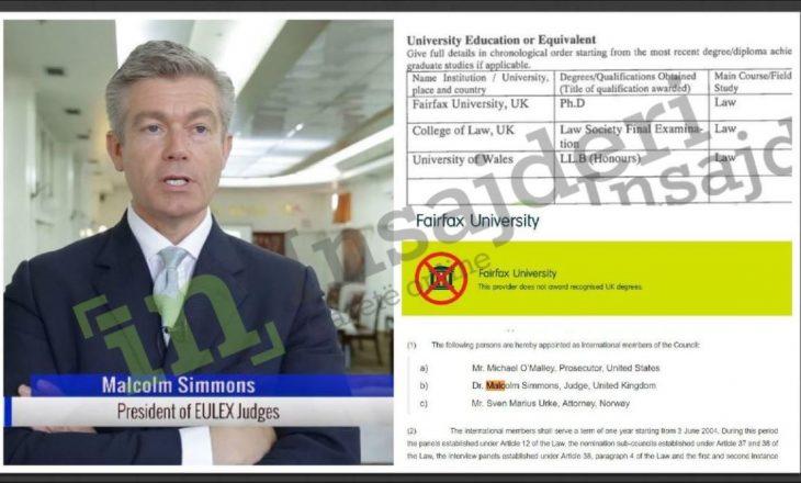 Gjyqtari që po akuzon EULEX-in mashtroi me doktoraturë false
