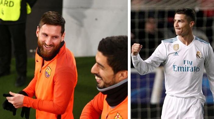Mediat në Spanjë: Si u tallën Messi dhe yjet e Barcelonës me festimin e Ronaldos [Video]