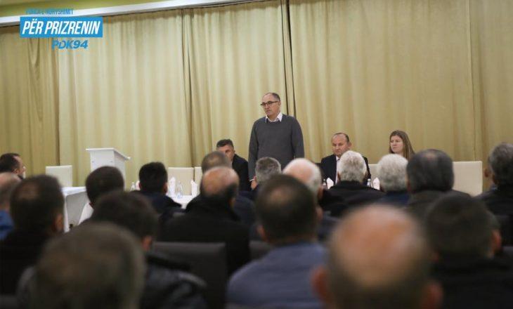 Shaqir Totaj prezanton planin e tij ekonomik për Prizrenin