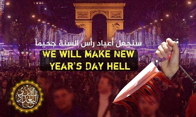 ISIS kërcënon Parisin për Vitin e Ri