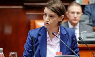 Deklaratë e papritur e kryeministres serbe Brnabiq për Kosovën