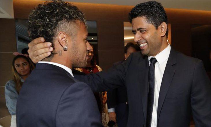 Pronari i PSG, Nasser Al-Khelaifi, në Brazil për Neymar Jr