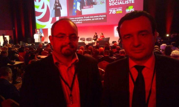 Albin Kurti merr pjesë në Kongresin e Partisë Socialiste në Francë