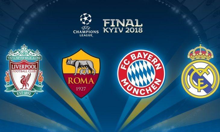 Këto janë çiftet gjysmëfinaliste të Champions League