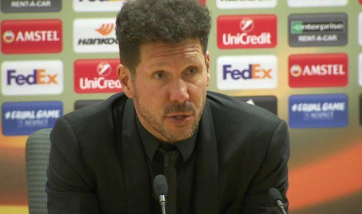 Diego Simeone deklarohet për paraqitjen e lojtarëve të tij