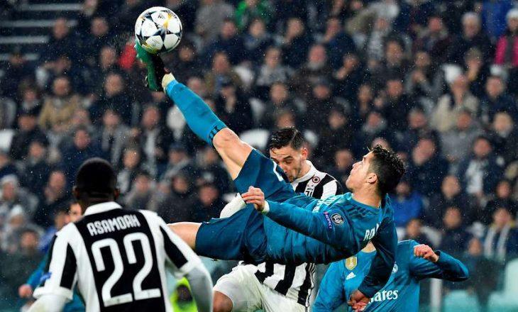 Ja sa metra ishte lartë Ronaldo kur shënoi golin (Foto)