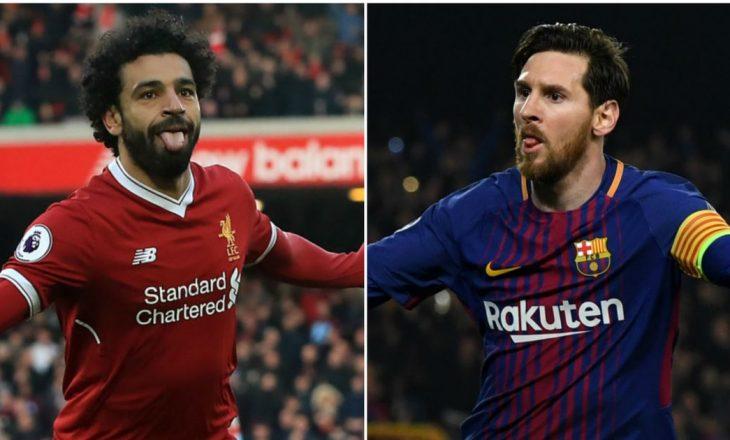 Messi – Salah, renditja e fundit në garën për Këpucën e Artë