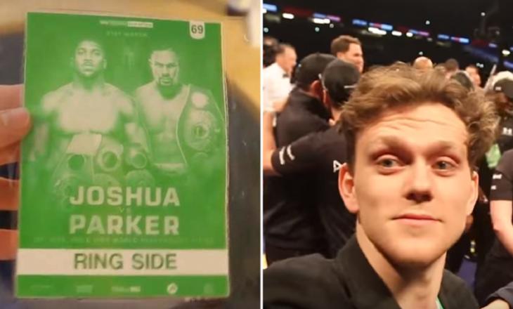 Britaniku përmes biletave fallco VIP, futet në meçin Joshua – Parker (Video)