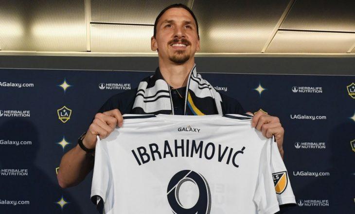 Ibrahimovic shpërthen në SHBA, shiten të gjitha fanellat