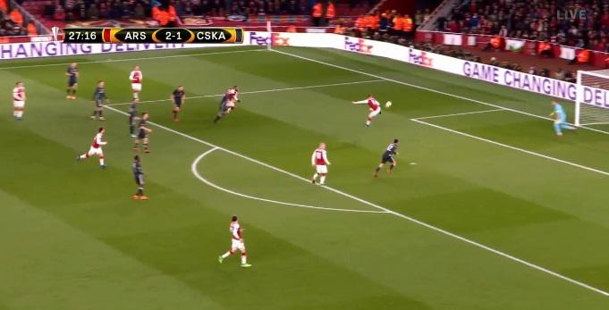 """Arsenali po """"keqtrajton"""" CSKAn – Ramsey në garë për golin e vitit në Europa League"""