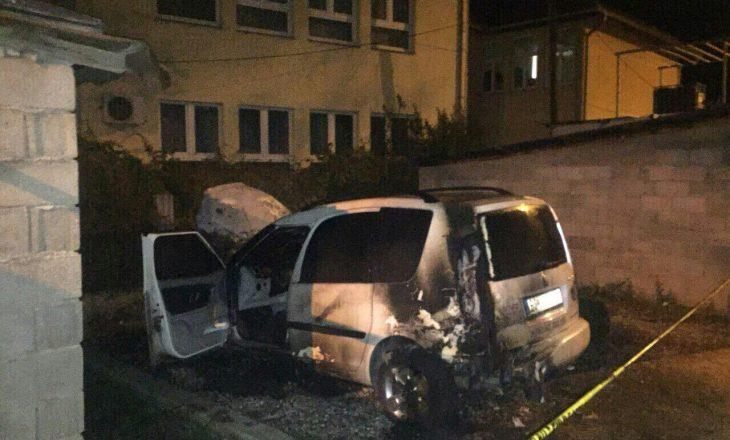 Policia jep detaje për djegien e veturës në veri