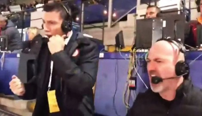 Reagimi i çmendur i komentatorit italian për golat e Romës (VIDEO)