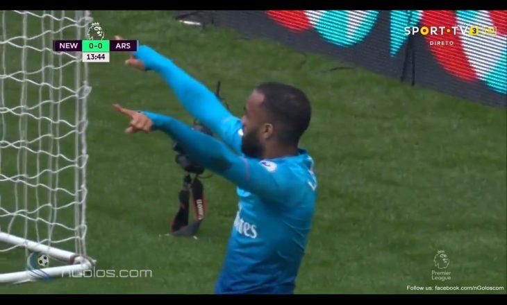 Shikoni çka bëjnë bashkë Aubumeyang dhe Lacazette – Arsenali shënon