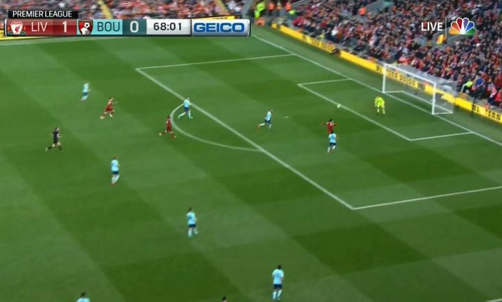 Gol i bukur nga Salah – Liverpooli dyfishon epërsinë