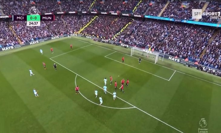 Supergol në derbin Manchester City – Manchester United [Video]