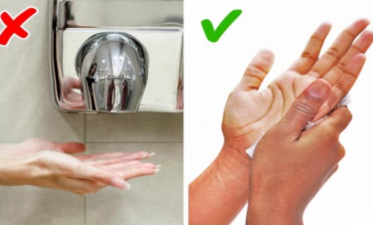 Rreziku që shkakton tharësja e duarve në tualete