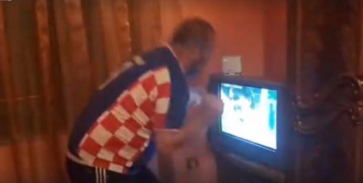 Festa e çmendur e shqiptarit për fitoren e Kroacisë [Video]