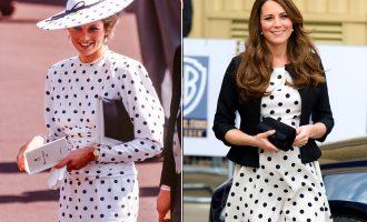 """Të gjitha herët kur Kate Middleton ka """"kopjuar"""" look-un e Dianës"""