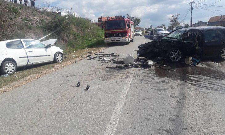 Pesë persona të lënduar në aksident trafiku në Trudë