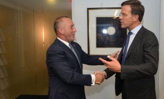 Haradinaj flet me kryeministrin holandez për dialogun Kosovë-Serbi