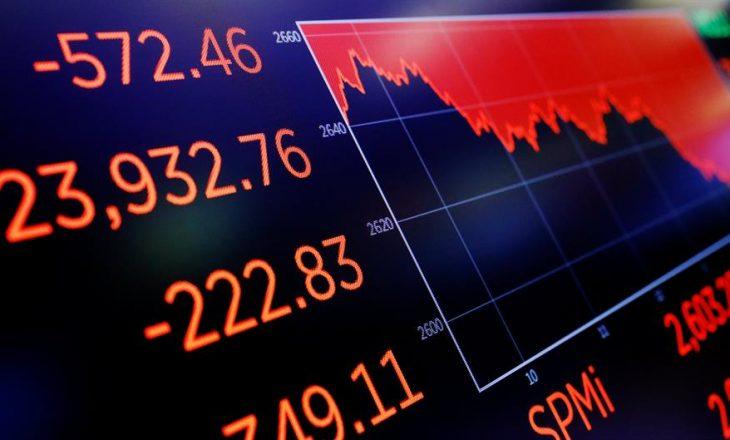 Rënie e madhe e indekseve në Wall Street