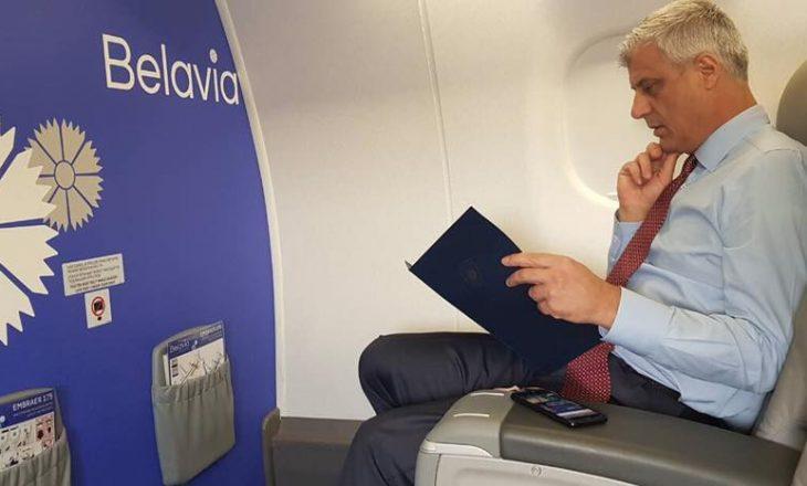 Thaçi shkon në Bjellorusi, merr pjesë në Konferencën e Sigurisë