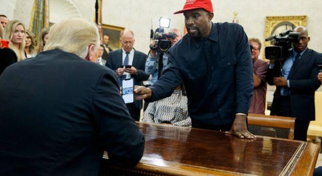 Trump takohet me Kanye West në Shtëpinë e Bardhë