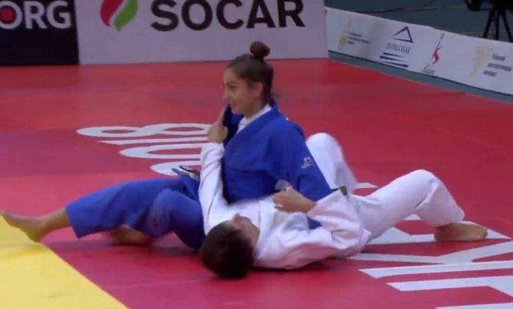 Momenti kur Majlinda e shpartallon kundërshtaren për ta fituar medaljen e Artë