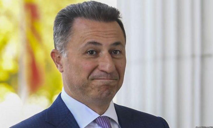 Parlamenti maqedonas miraton dorëheqjen e deputetit Gruevski