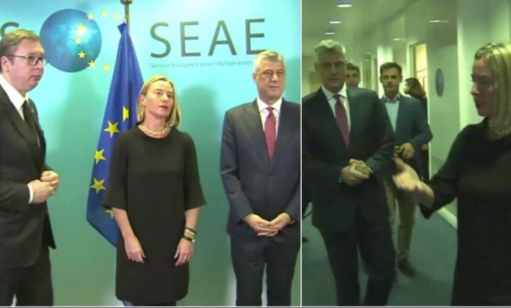 Publikohet një video para takimit trepalësh në Bruksel – Thaçi e Vuçiq nuk i flasin njëri-tjetrit